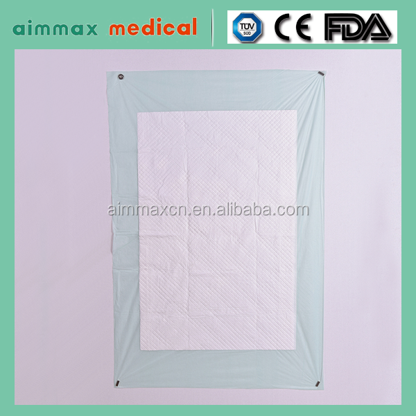 Disposable underpads with Tissue paper fluff pulp SAP/bed pads