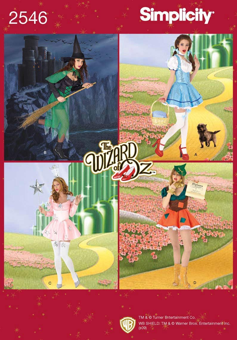 Simplicity Sewing Pattern 2546 Misses Costumes, U5 (16-18-20-22-24)