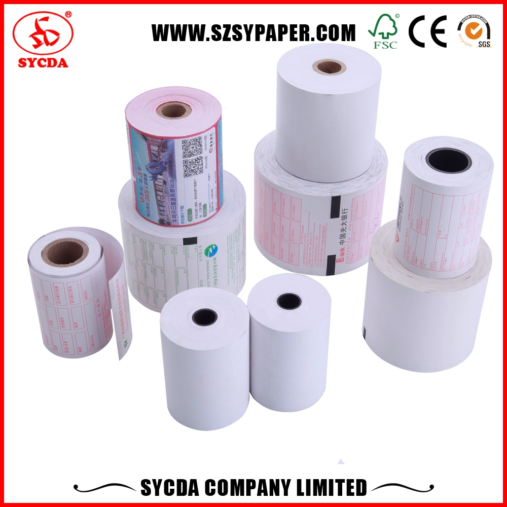 Bank Terminal Receipt Paper rolls pos thermal printer with competitive price ATM Paper For POS ATM Printer