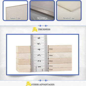 12mm thickness Competitive Price Calcium silicate(CSB) for wall