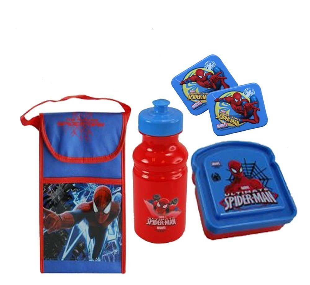 Spin A Web Of Fun With This Marvel Ultimate Spider-Man Boys Lunch 5. Pc All Inclusive Set