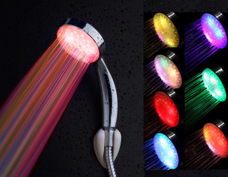 geleid douchekop kraan licht 7 kleuren veranderen gloed douche licht water flow douchekop