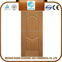 the cheapest stable quality veneer faced molded door skin for sale