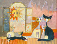 BC13-1151 2013 Latest Hot Oil Paintings Family Home Cats Paintings