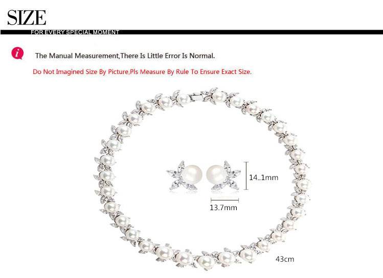 LUOTEEMI Wholesale Fashion Bridal Luxury AAA Clear Cubic Zirconia Bridesmaid Pearl Wedding Elegant Choker Necklace