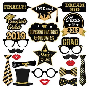 wholesales Glitter Graduation Party Photo Booth Props