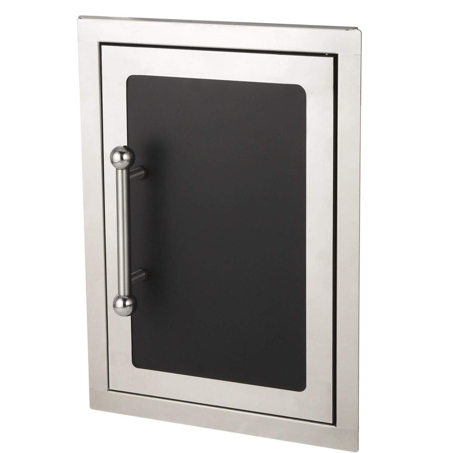 Fire Magic Echelon Black Diamond 14-inch Right-hinged Single Access Door - Vertical With Soft Close - 53920hsc-r