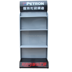 High quality metal auto parts display stand shelves