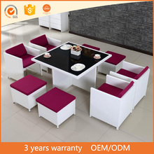 Most Popular Garden Rope Outdoor Furniture Luxury Dining Table Set