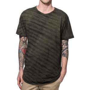 Ruiteng Mens Casual Curved Hem Simple T-Shirt