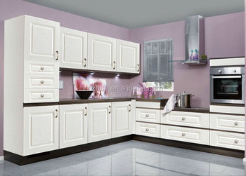 High Polymer Cream Lacquer Cabinet Doors Kitchen Used