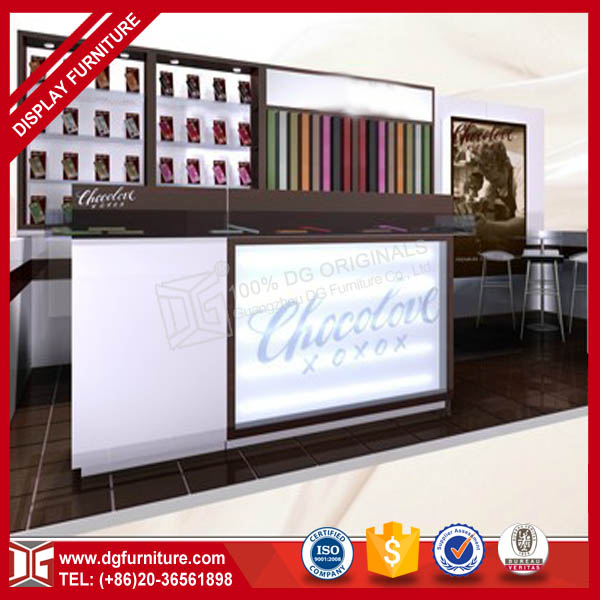 DG Furniture factory customized cosmetic shop counter wood mdf plywood cosmetic shop counter design