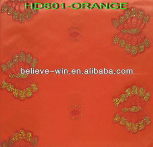African sequence gele africa common headtie orange color
