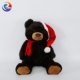 China factory wholesale Custom beautiful High Quality New Design large plush teddy bears with Christmas hat