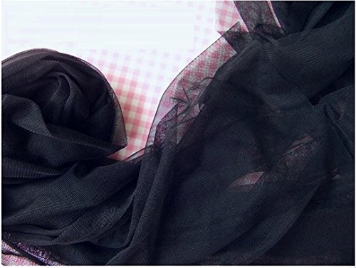 """Shatex DIY Fabric 60""""-W x 66""""-L Mosquito Netting, Insect Pest Barrier Netting, Black"""