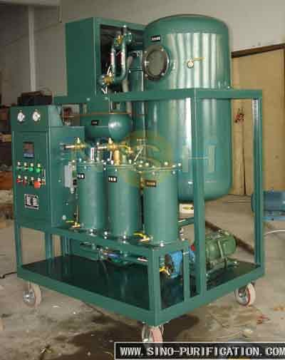 vacuum waste turbine oil recycling machine/oil purifier / oil recondition