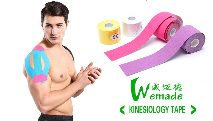 Custom Logo Printed Kinesiology sports tape For Therapy Muscle kinesiology tape 5cm 5m