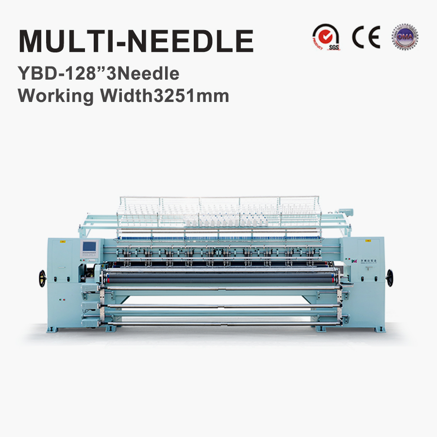 YBD128'3 Lock Stitch Multi Naald Quilten Machine