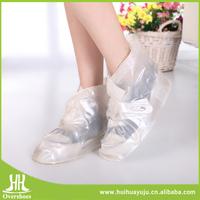 high quality Non-slip plastic clear rain boots womens
