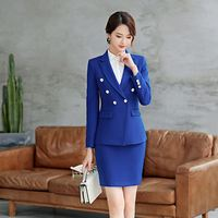 New Design Dark Grey Women One Button Business Formal Suit For Business Woman