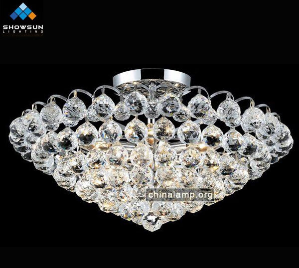 Exotic crystal close to ceiling lighting