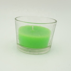 Scented Customized Color Natural Soy Wax Glass Jar Candle/Bougie