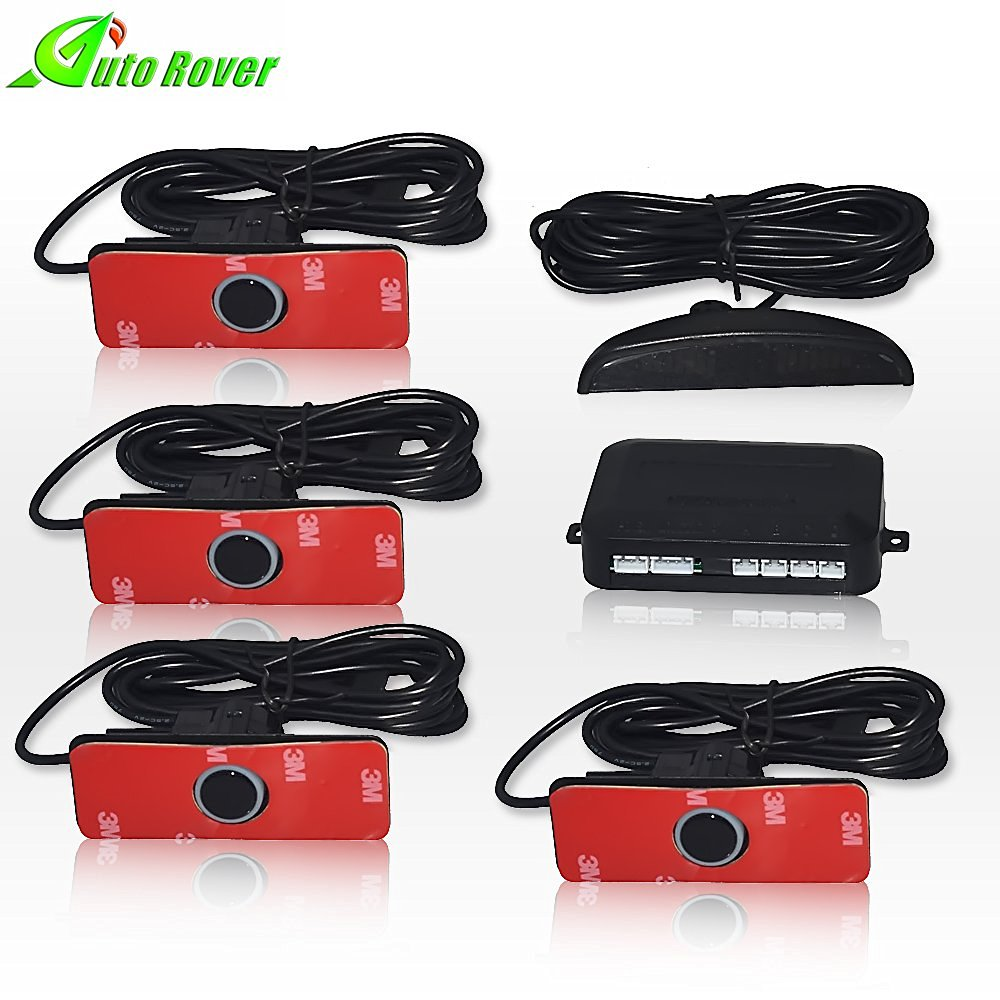 Car Parking Sensor,Auto Rover LED Monitor With Original 4 Sensors Backup Radar Monitor Parking Sensor System Reverse Assistance