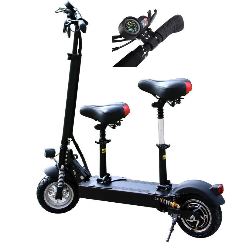 2018 new product electric scooter adult with seat for adults 11 inch 48v electric scooter 1000w