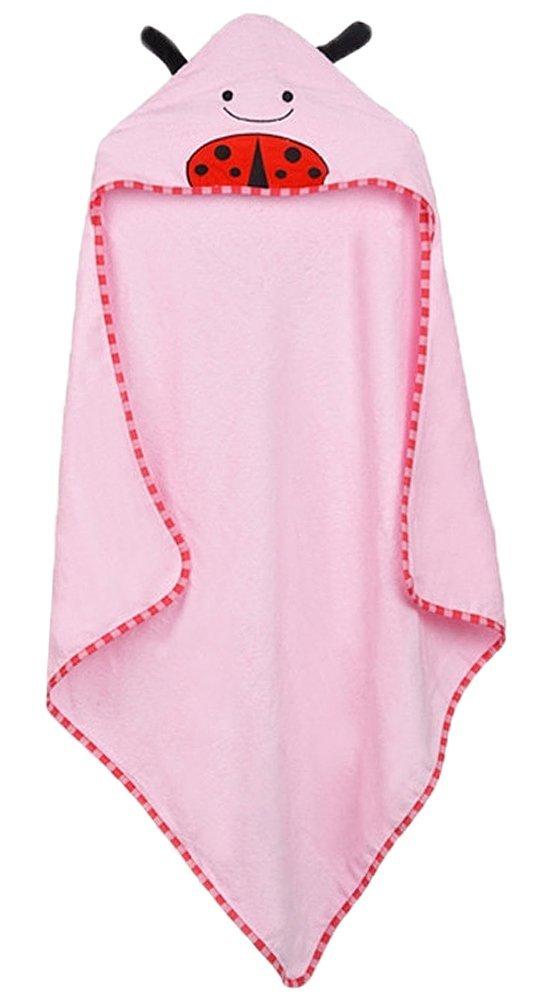GogoForward Hooded Animal Character Kids Bath Robe infant Beach Pool Towels Wrap Baby Spa Towel (Beetle)