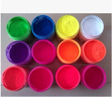 NEON Orange Red Color Shiny Fluorescence Pigment Phosphor Powder Dust Nail Polish Fluorescent Powder for Nail