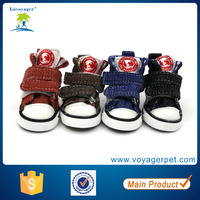 Lovoyager hot sale big American style pu dog shoes for cheap wholesale