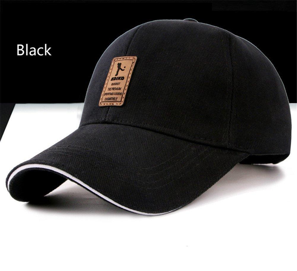 Surborder Shop Blank Adjustable Plain Snapback Hats Caps Black