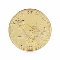 united states Statue of Liberty yellow gold good quality coins trump president commemorative metal coins