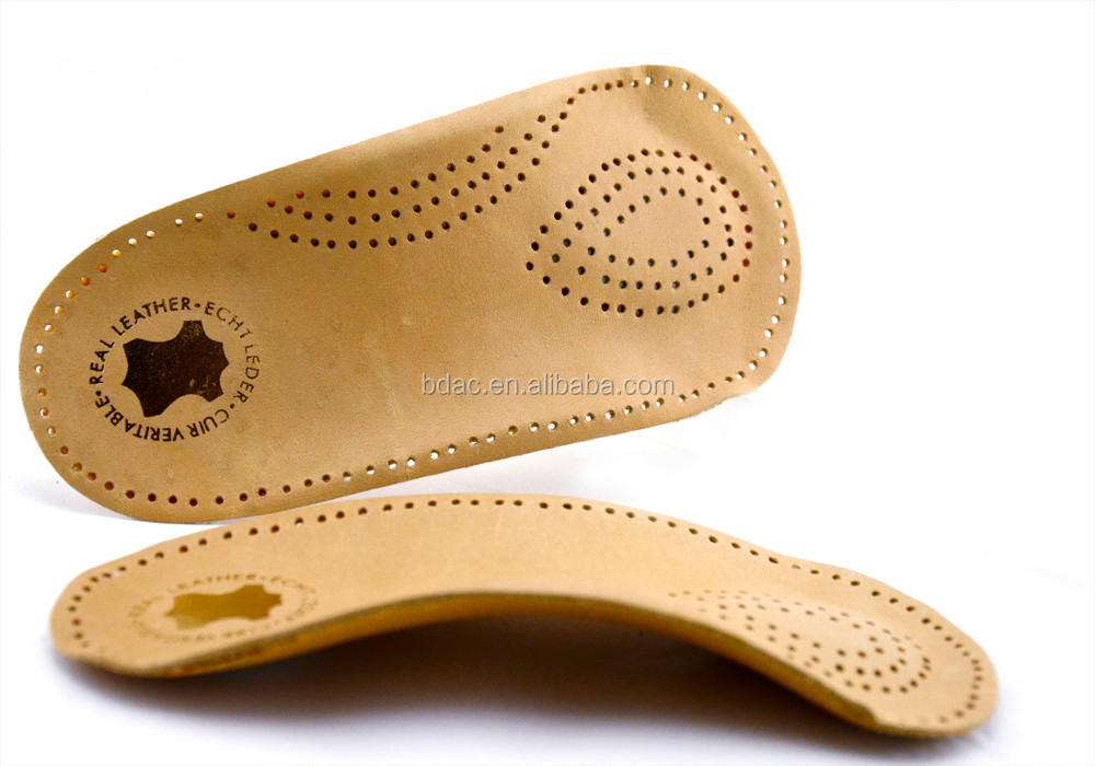 leather arch orthotic 3/4 insole
