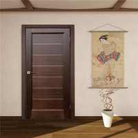 Home wooden door making machine wooden single door flower designs safety door
