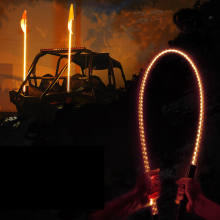 5FT ORANGE LED Whip Light and Flag Polaris RZR ATV UTV JEEP OffRoad