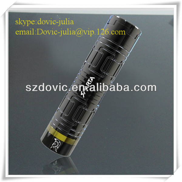OEM Acceptable stainless ecig 26650 sparta mod wholesale , MOQ for e cigarett is 100 unit with competitive price