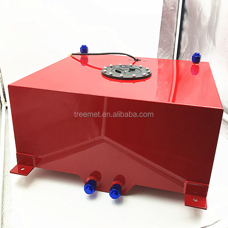 Red Color Paint Finished 60Litre Metal Fuel Tank