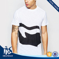 Shandao New OEM Summer Mens White O-Neck Short Sleeve 180g 100% Cotton Wholesale T-Shirts Bulk Cheap Custom T Shirts Printing