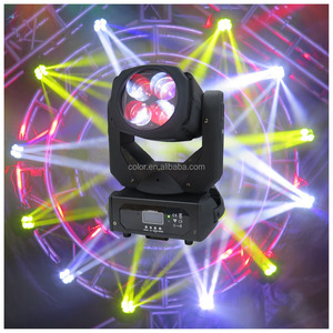 guangzhou 4x25w white led super beam with color wheel flower effect moving head light