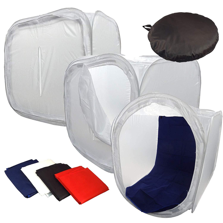 20 x 20cm LEDMOMO Photo Studio Tent Portable Photography Studio Shooting Tent Small Foldable Light Box with 6 Color Background