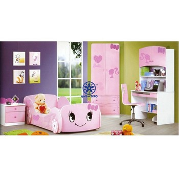 2014 Best Selling Products Cute Girls Single Beds Girl Car Bed 1021