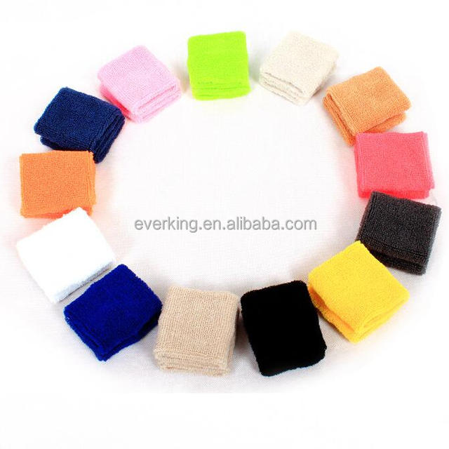 bulk wholesale cheap terry cotton wrist sweatband with custom embroidery  logo