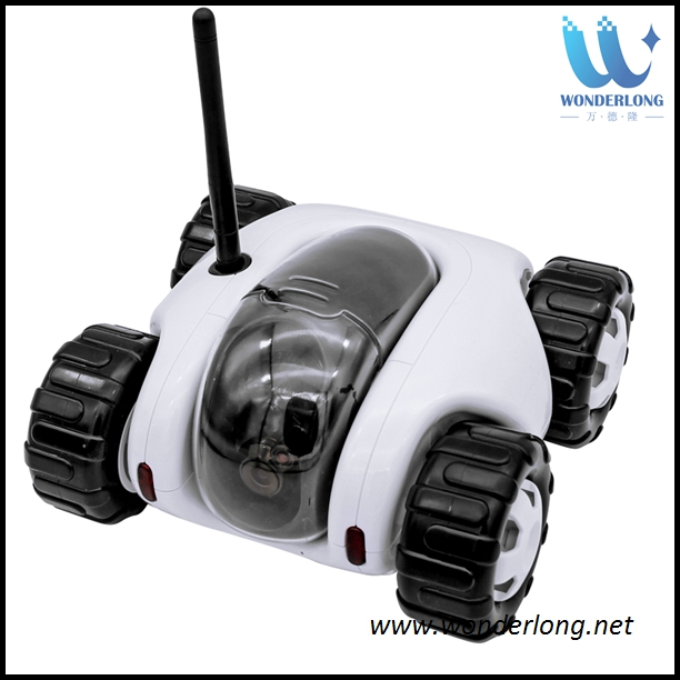 Low cost battery powered ip camera motion detection car toy controller moving wifi webcam home ip camera