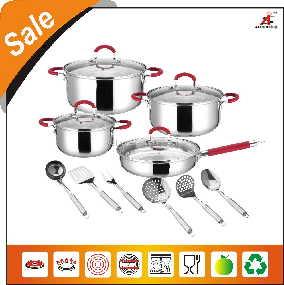 red silicon handle stainless steel kitchen products for home