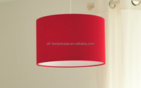 Modern Rolla Polycotton Black Cylinder Ceiling Pendant / Table Lamp Drum Light Shade