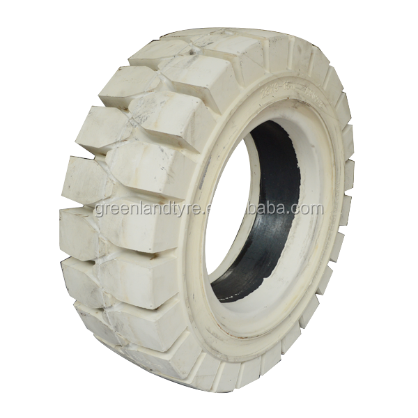 hot sale cheap price solid forklift tire 6.00-15 white color non-marking