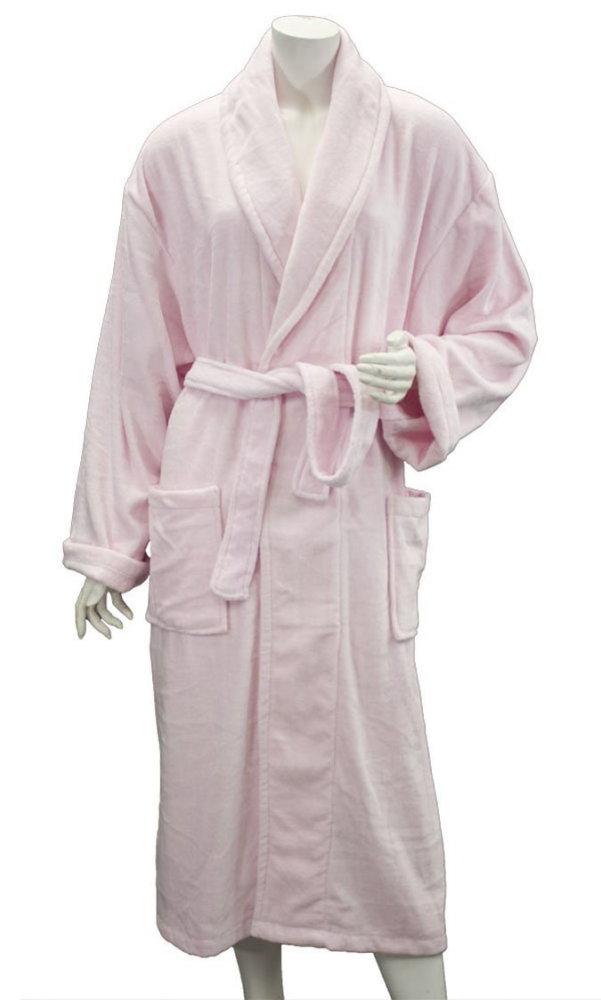 583db98b4e Get Quotations · Leisureland Women s Cotton Terry Cloth Terry Cloth Velour Bathrobe  Robes Pink ...