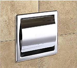 Toilet Paper Holders Square Polished Chrome Brass Toilet Paper Holder Tissue Box Wall Mounted Toilet Paper Cover