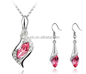 free shipping hot sale cheap jewelry set latest necklace earring set